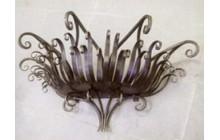 Кованая подставка под цветы, навесная, настенная-b002