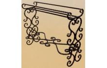 Кованая подставка под цветы, напольная-b010