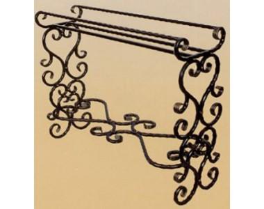 Кованая подставка под цветы, напольная