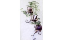 Кованая подставка под цветы, навесная, настенная-b012