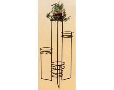 Кованая подставка под цветы, напольная (3 горшка)