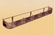 Кованая подставка под цветы, навесная, настенная-b018-1