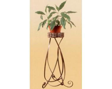 Кованая Подставка под цветы, напольная (1 горшок)
