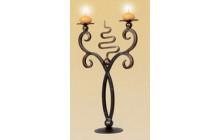 Кованый подсвечник на 2 свечи, настольный-e005-1