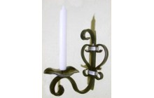 Кованый подсвечник на 1 свечу, настенный-e013