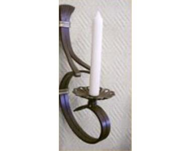 Кованый подсвечник на 1 свечу, настенный