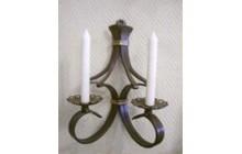 Кованый подсвечник на 2 свечи, настенный-e014