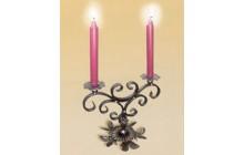 Кованый подсвечник на 2 свечи, настольный-e020