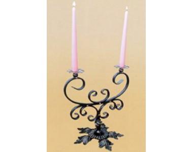 Кованый подсвечник на 2 свечи, настольный