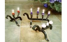 Кованый подсвечник на 3 свечи, настольный-e024-1
