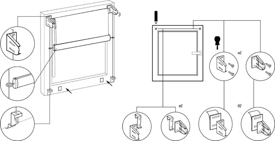 ролет штора инструкция по установке